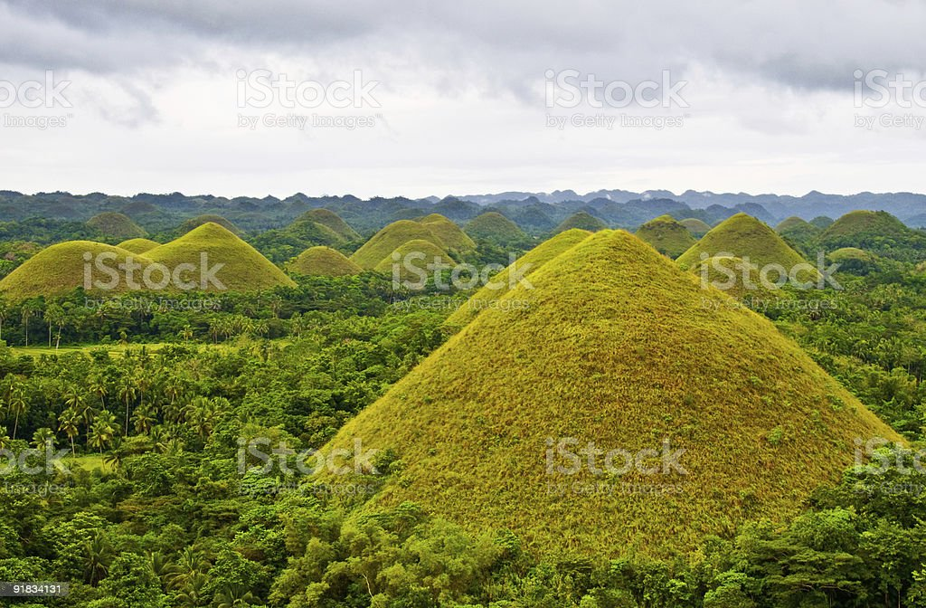 The Chocolate Hills of Bohol, Philippines royalty-free stock photo