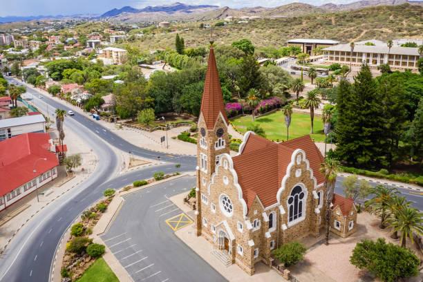 The Christ Church - Christuskirche Windhoek, Namibia stock photo