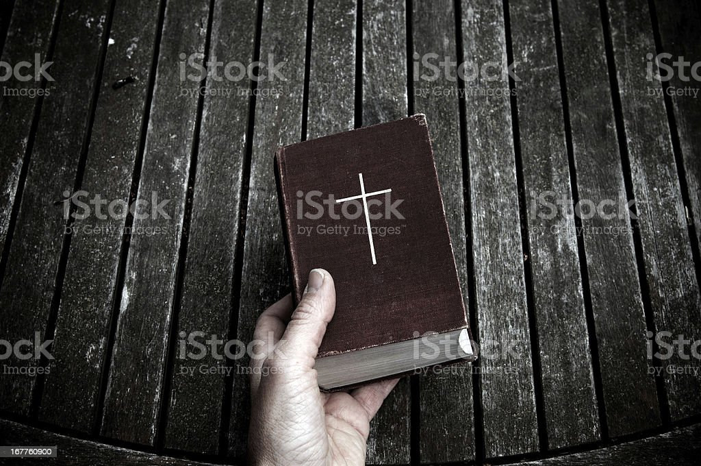 The Christianity bible of God and his word stock photo