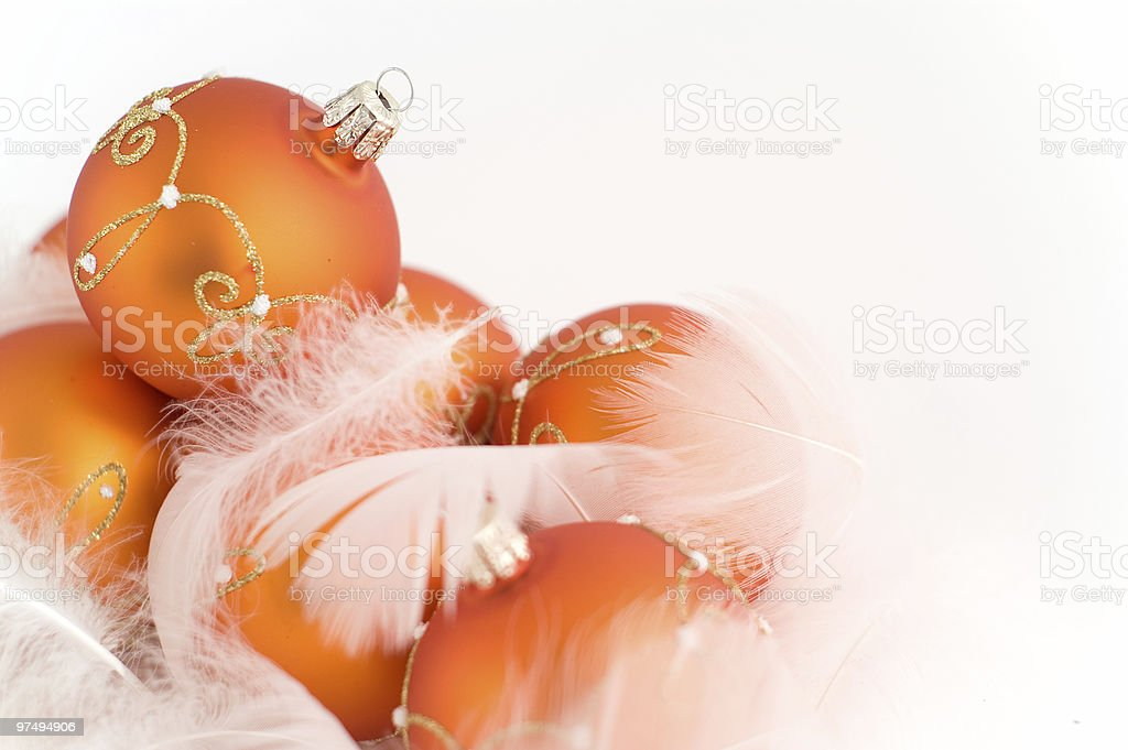 The christmas baubles isolated on white background royalty-free stock photo