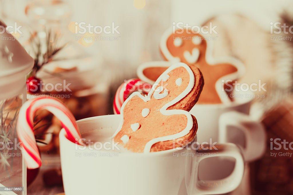 The Christmas dessert stock photo