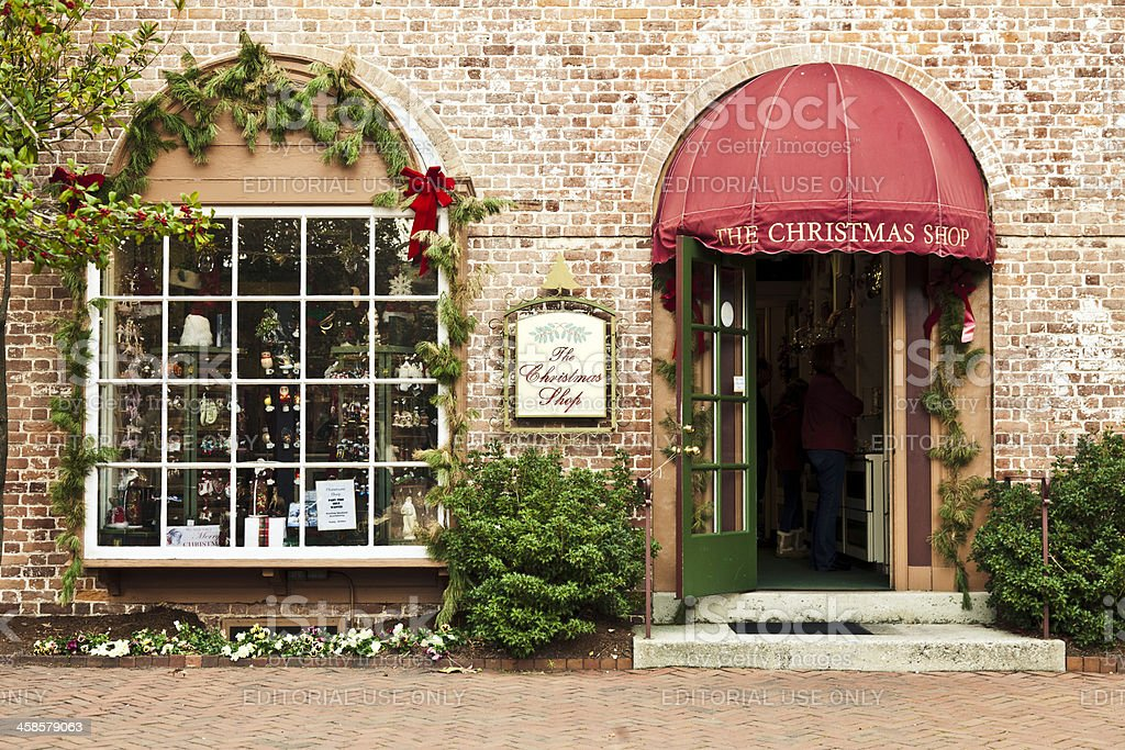 The Christmas Shop in Williamsburg, Virginia royalty-free stock photo