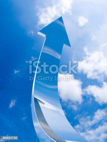 istock The chrome arrow aspire to sky 93533293