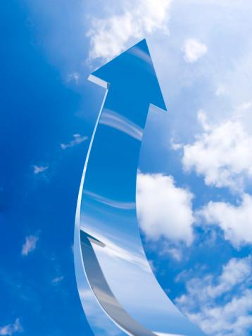 istock The chrome arrow aspire to sky 93533293