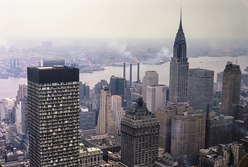 New York City in the 1950's. New York City comprises 5 boroughs sitting where the Hudson River meets the Atlantic Ocean. At its core is Manhattan, a densely populated borough that's among the world's major commercial, financial and cultural centers. Its iconic sites include skyscrapers such as the Empire State Building and sprawling Central Park. Broadway theater is staged in neon-lit Times Square.