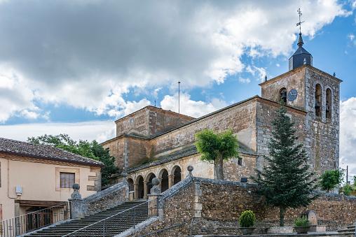 The church, dedicated to Saint Nicholas, patron of Fresno de Cantespino in Segovia (Spain)