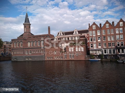 The church in Amsterdam at summertime