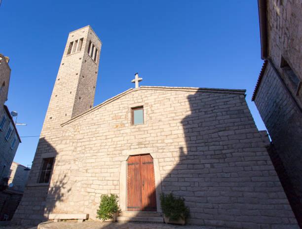 The church in the centre of Aggius - foto stock