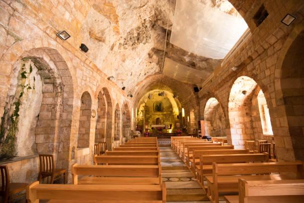 Die Kirche. Kloster des Heiligen Antonius von Qozhaya, eines der ältesten Klöster des Tals von Qadisha.  Tal von Qadisha, Libanon – Foto