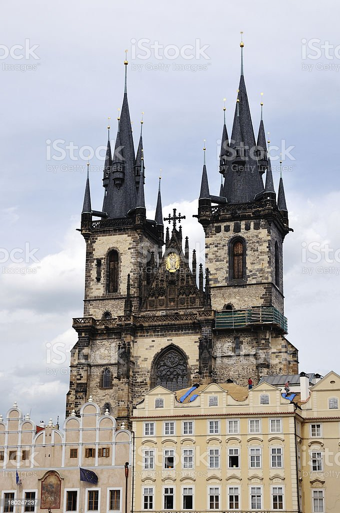 The Church Mother of God before Tyn, Prague royalty-free stock photo