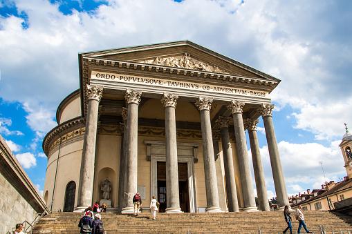 The church of Gran Madre di Dio in Turin