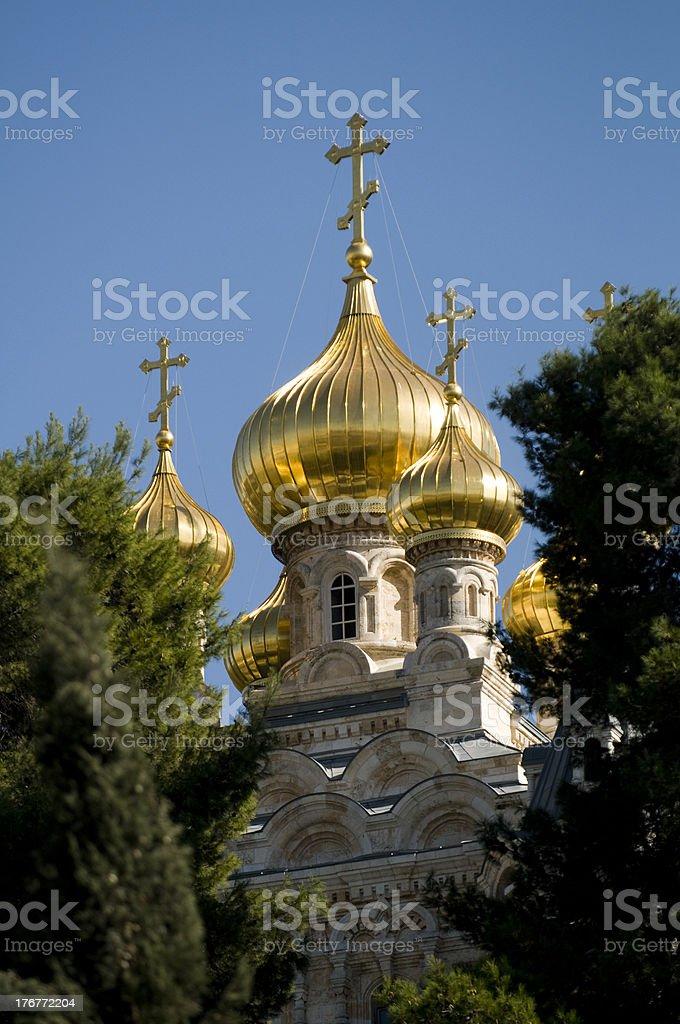 The Church of Mary Magdalene, Gethsemanem, Jerusalem royalty-free stock photo