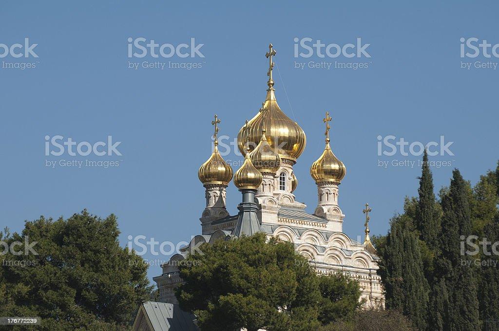 The Church of Mary Magdalene, Gethsemanem, Jerusalem stock photo