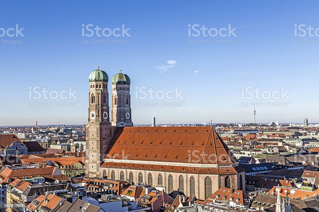The Church of Our Lady (Frauenkirche) in Munich stock photo