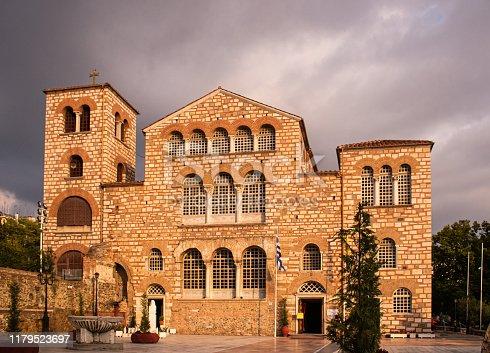 The Church of Saint Demetrius, the patron saint of Thessaloniki, Greece