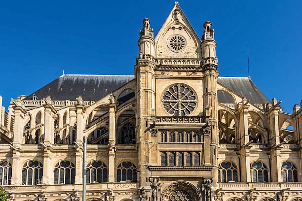 la chiesa di saint eustache, parigi, francia. - saint eustache church foto e immagini stock