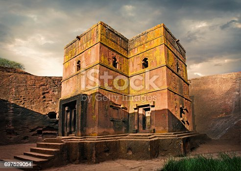 Rock-hewn Saint George church in Lalibela, northern Ethiopia