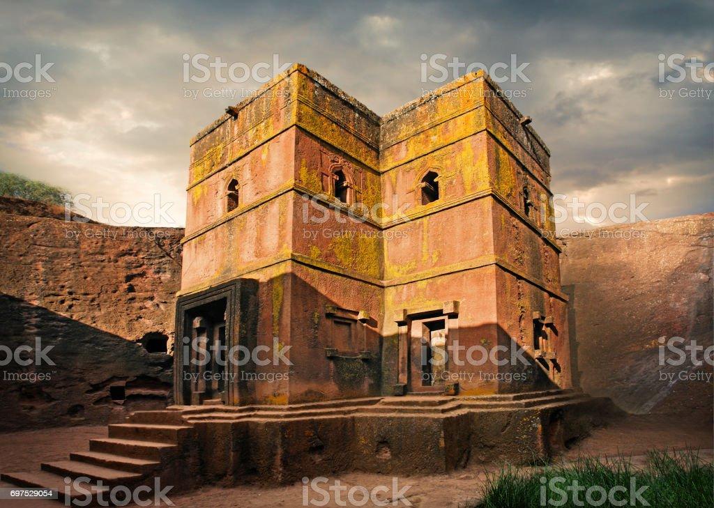 The Church of Saint George in Lalibela stock photo