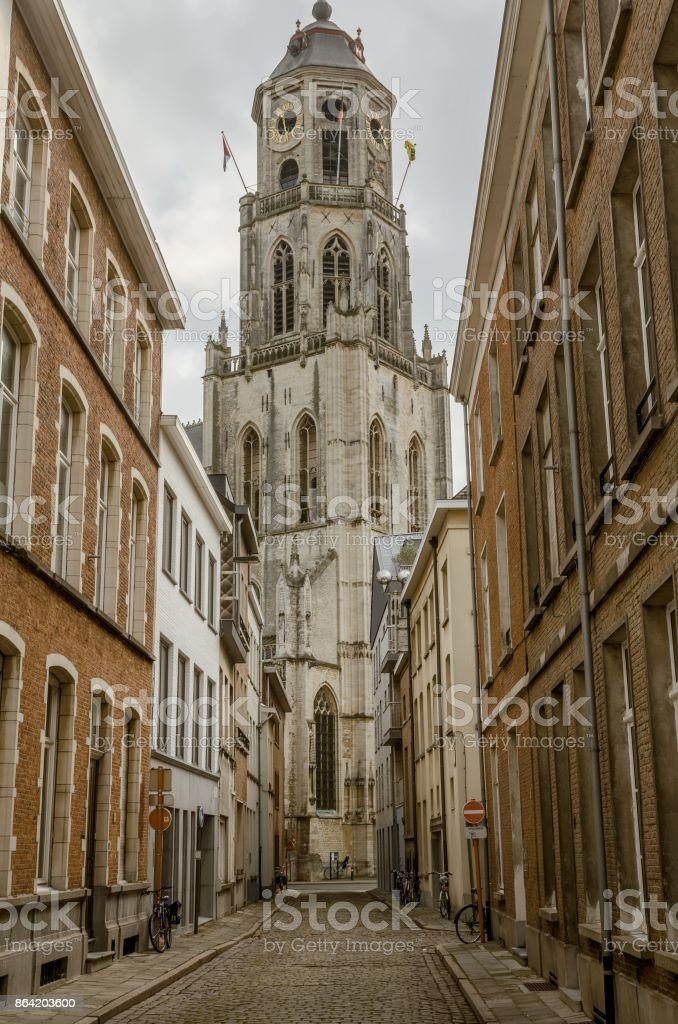 The church of Saint Gommaire in Lier, belgium royalty-free stock photo
