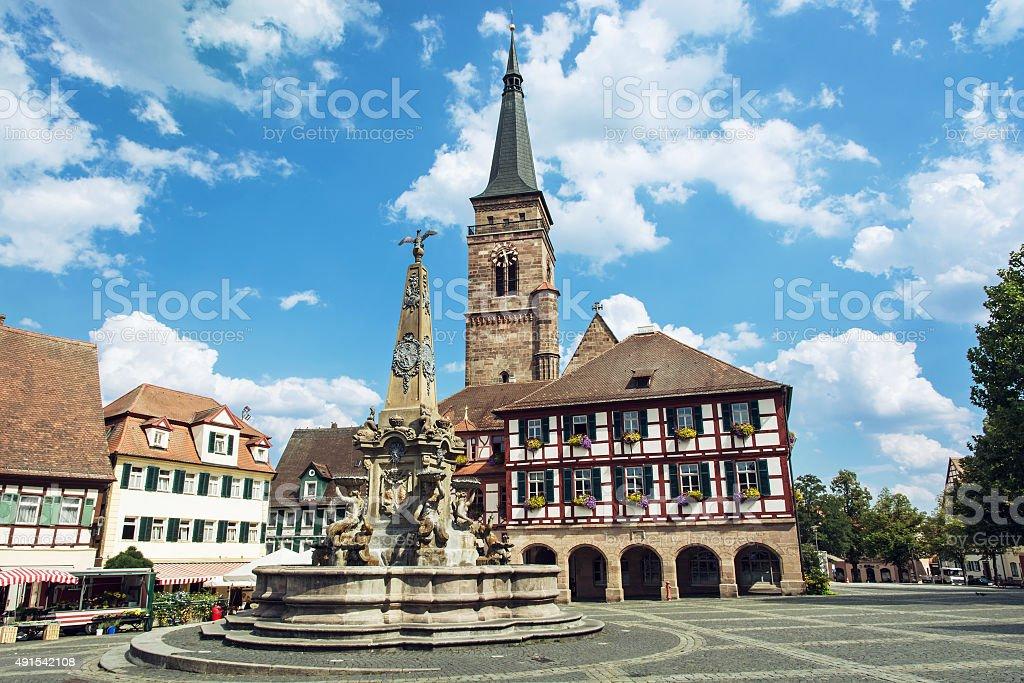 Die Kirche St. Johannes und Saint Martin, Schwabach, Deutsch - Lizenzfrei 2015 Stock-Foto