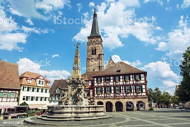 Die Kirche St Johannes Und Saint Martin Schwabach Deutsch Stockfoto und mehr Bilder von 2015