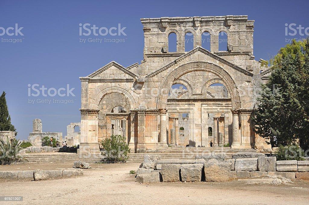 The Church of Saint Simeon Stylites royalty-free stock photo