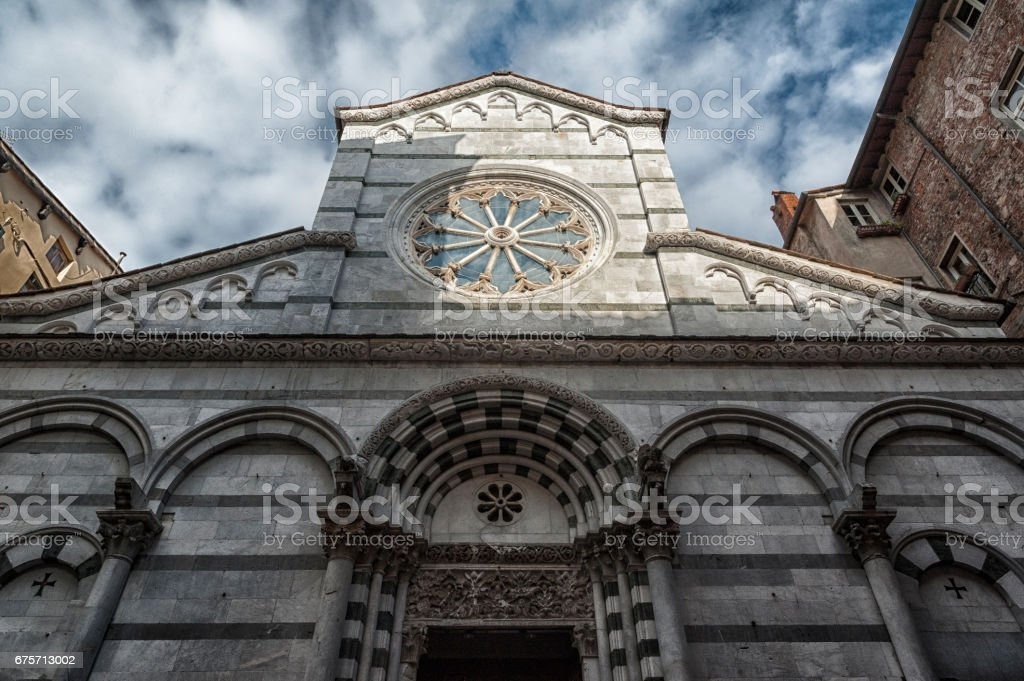 The church of San Cristoforo, Lucca, Tuscany, Italy royalty-free stock photo