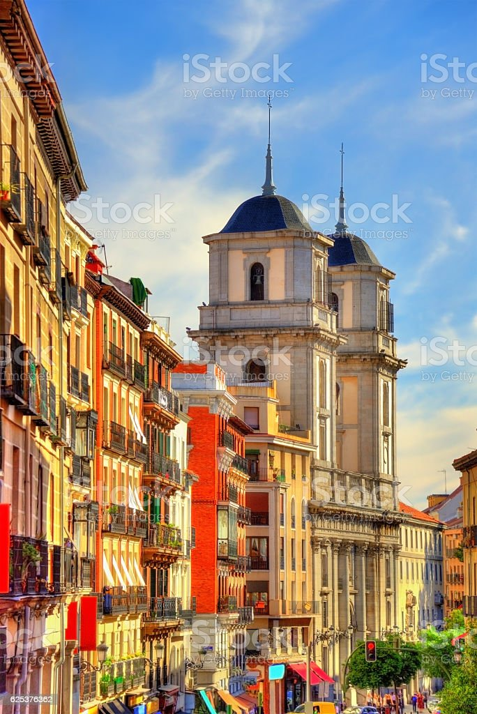 The church of San Isidro el Real in Madrid, Spain stock photo