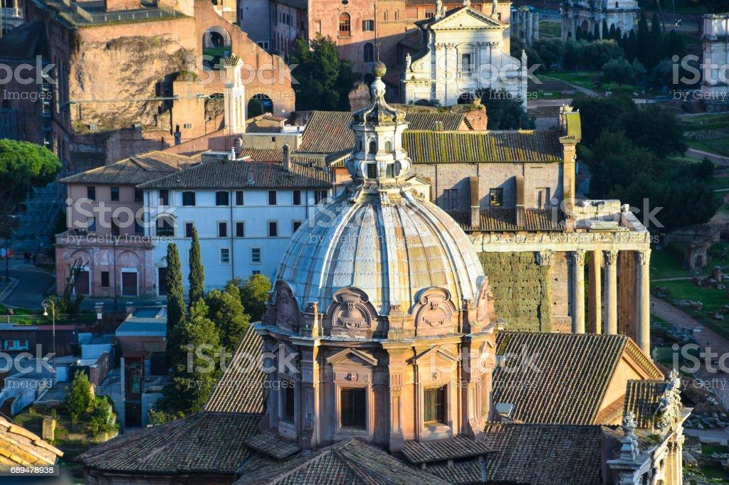 The Church of Santi Luca e Martina stock photo