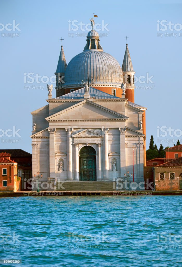 The Church of Santissimo Redentore, or Holy Redeemer stock photo