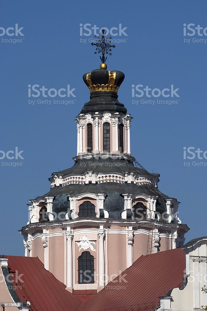 The Church of St. Casimir in Vilnius, Lithuania royalty-free stock photo