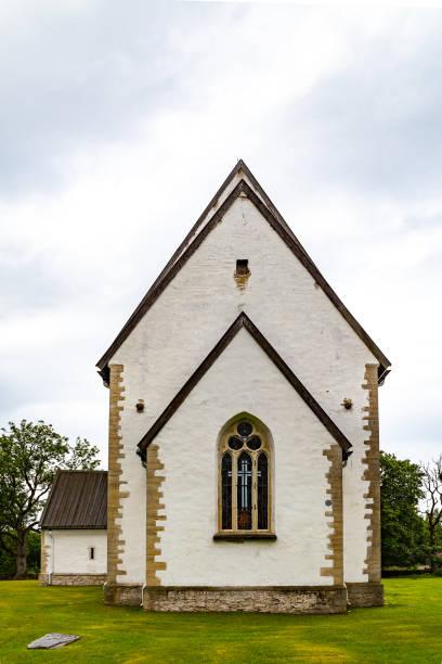 The church of St. Catherine in Karja, Saaremaa, Estonia. stock photo