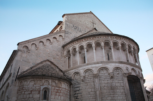 The Church of St. Chrysogonus. Zadar. Croatia. Romanesque style. Details