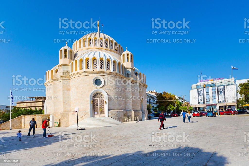 Kościół św. Constantine i Helen. Glyfada, Grecja. zbiór zdjęć royalty-free