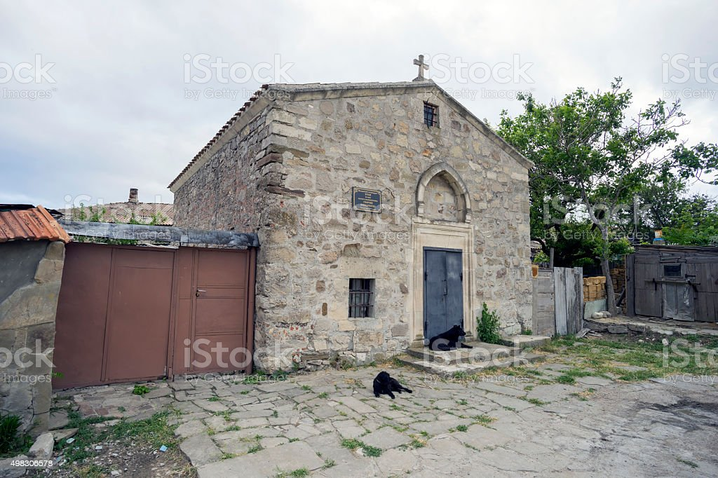 The Church of St. George in Feodosia. stock photo