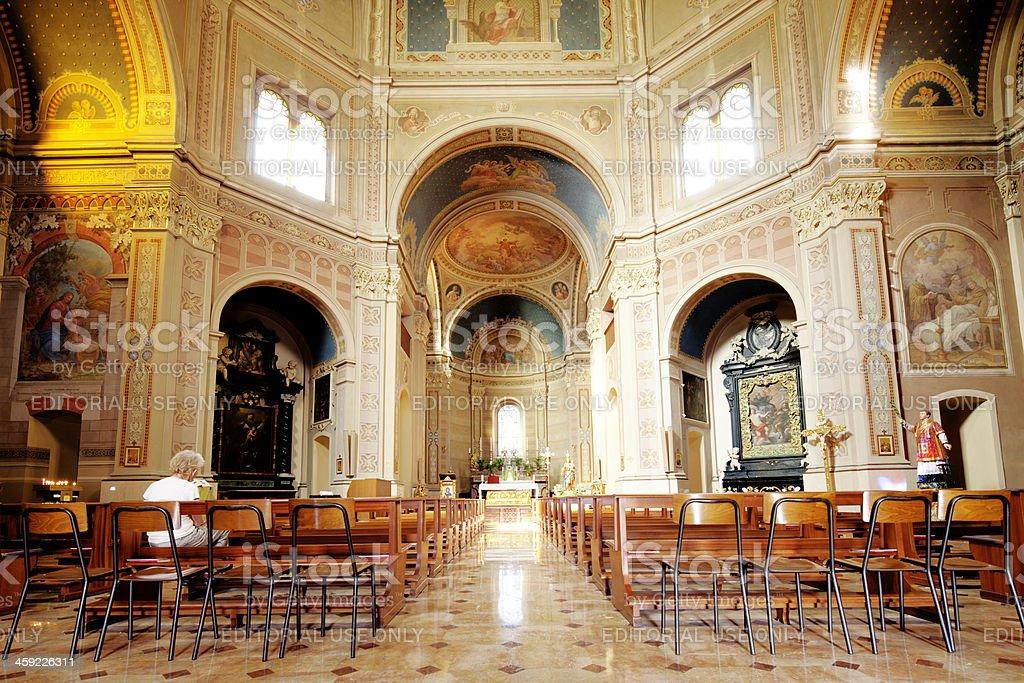 The Church of St. Lorenzo, Tremezzo stock photo