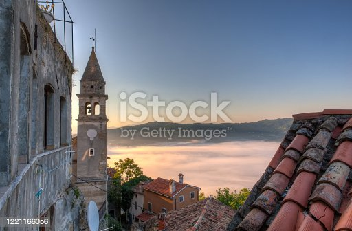 View of the Church of St.John the Baptist and Blessed Virgin Mary of the Gate, Motovun. Croatia