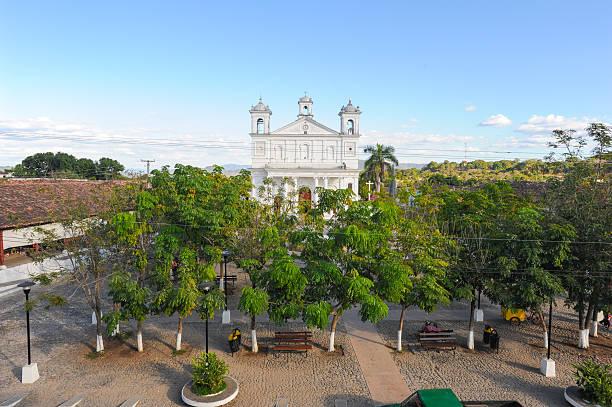 The church of Suchitoto stock photo