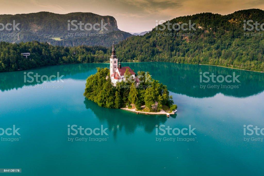Die Kirche Mariä Himmelfahrt, Bled, Slowenien – Foto