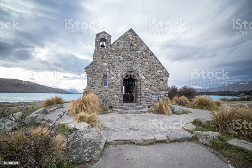 The church of the Good Shepherd stock photo