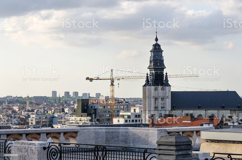 The Church of The Minims in Brussels stock photo