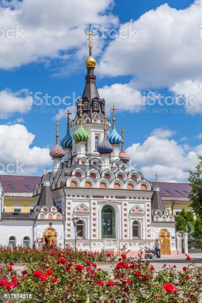 """The Church of the mother of God """"Assuage My Sorrows"""" in Saratov. The construction was completed in 1906. Russia. On a Sunny summer day"""