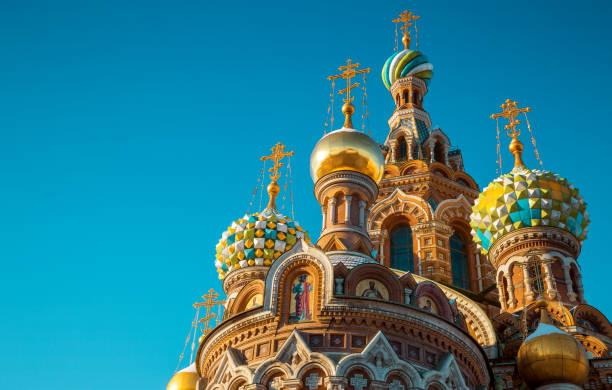 Die Kirche des Erlösers auf vergossenen Blutes in St. Petersburg, Russland – Foto