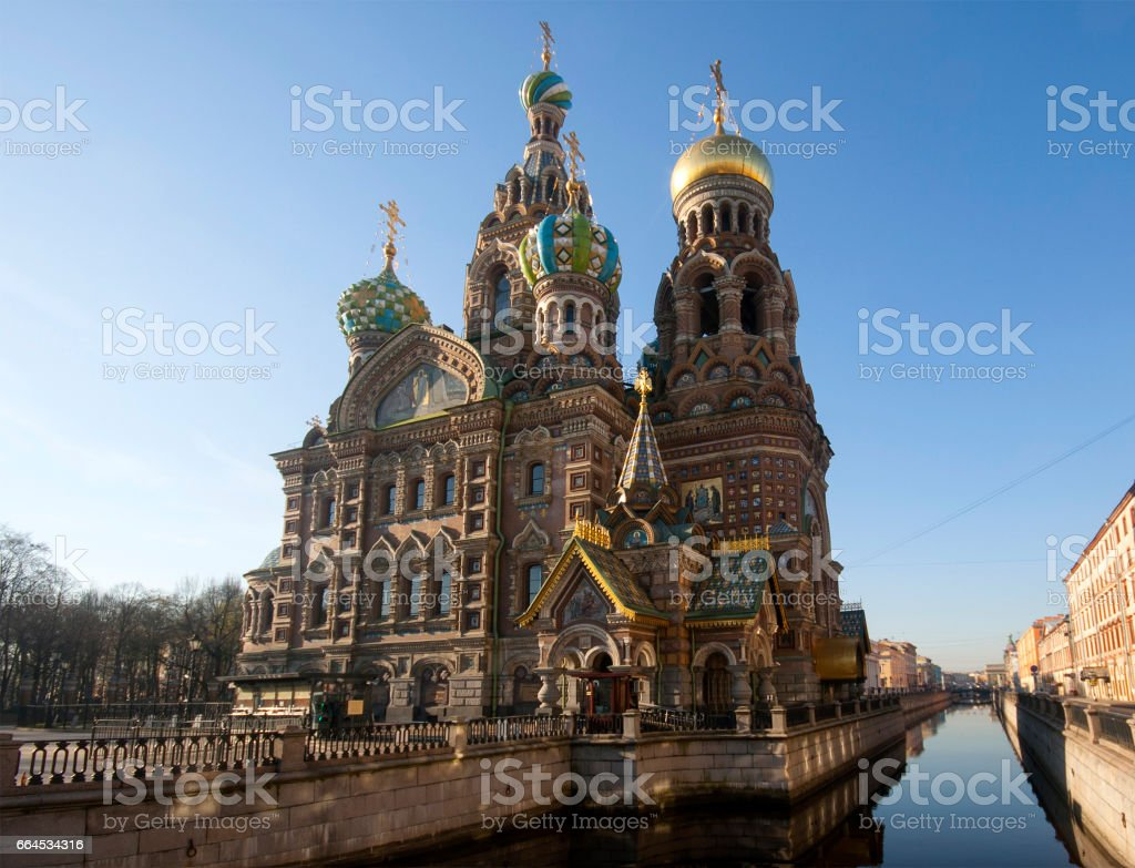 The Church of the Savior on Spilled Blood Saint-Petersburg Russia. Church was built in 1883-1907. royalty-free stock photo