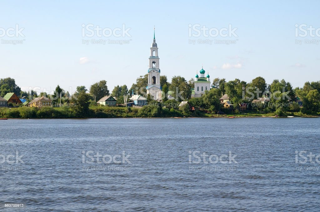 The Church of the Smolensk icon of the Mother of God in Dievo Hillfort stock photo