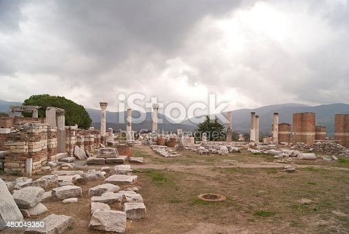istock The church wall and columns 480049350