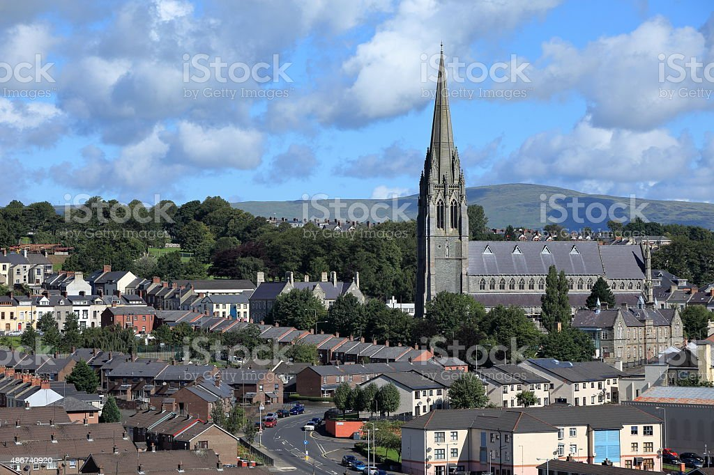 Die Kirchen von Derry in Nordirland stock photo
