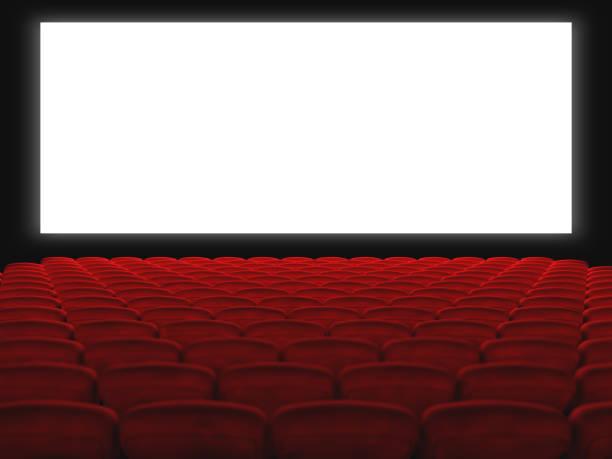 The cinema hall stock photo