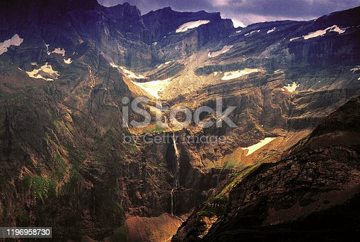 istock The Cirque de Gavarnie is a cirque in the central Pyrenees, in Southwestern France, close to the border of Spain. It is within the commune of Gavarnie, the department of Hautes-Pyrénées, and the Pyrenees National Park. 1196958730