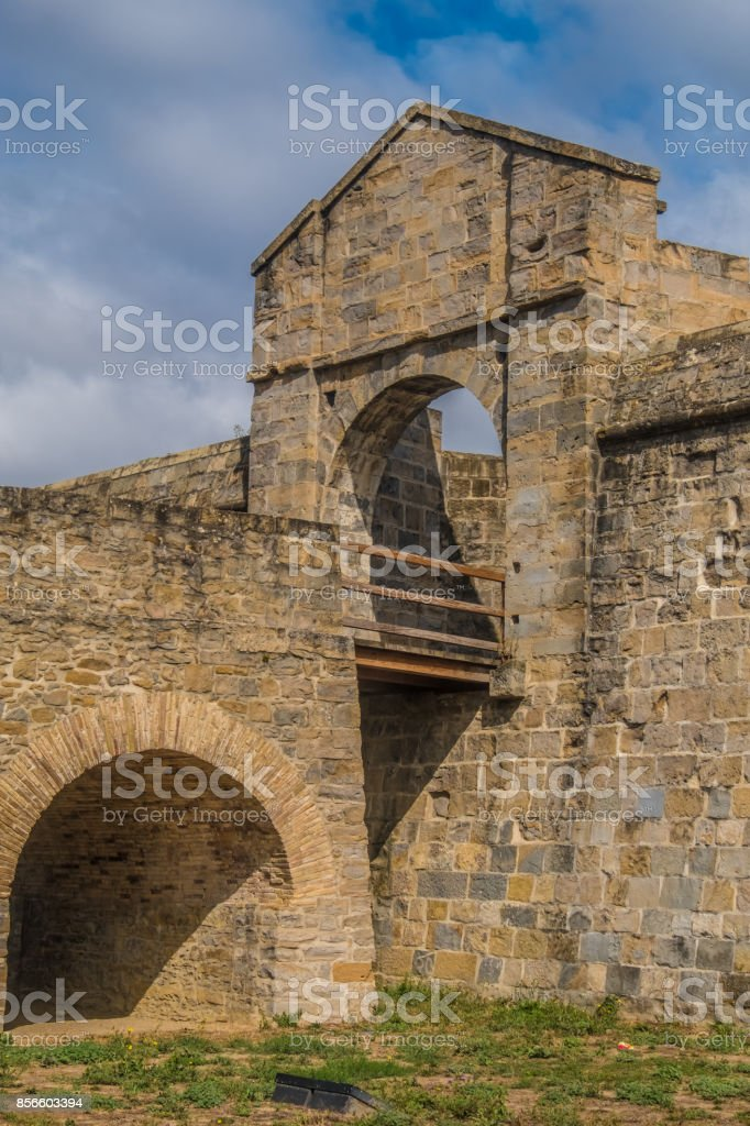 The citadel, a pentagonal star fort. Pamplona (Iruña), the historical capitalof Navarre, Spain, Famous for the running of the bulls during the San Fermin festival brought to literary renown by Ernest Hemingway's novel The Sun Also Rises. stock photo